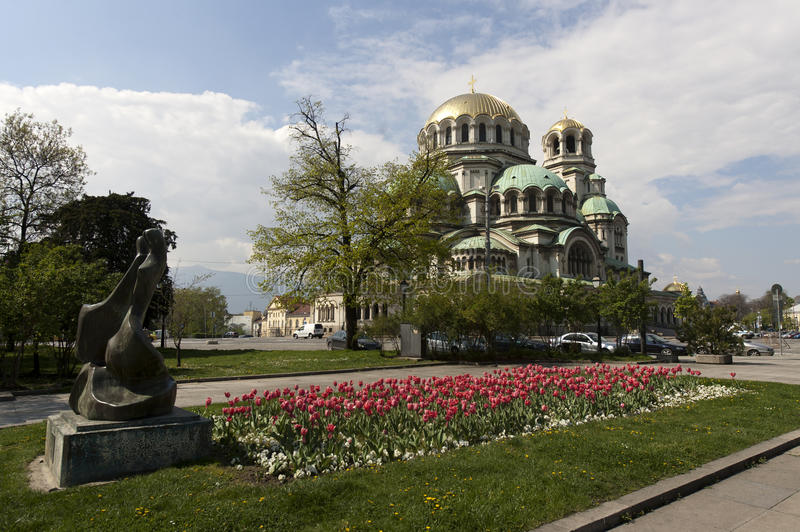 Bulgaria Sofia Cathedral Nevsky. Alexander Nevsky Cathedral in capital city Sofia in Bulgaria royalty free stock photography