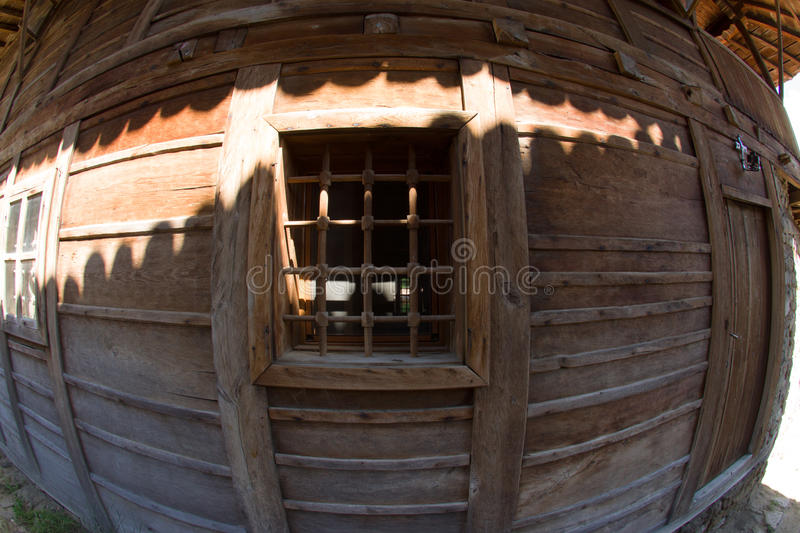 Bulgaria. Window with bars in the farmhouse royalty free stock photography