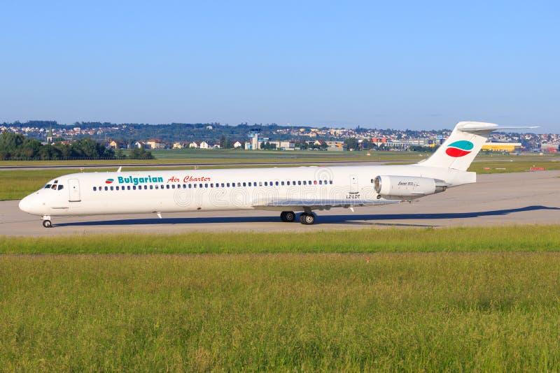 Bulgarian Air Charter McDonnel Douglas MD-82 LZ-LDS fotografia stock
