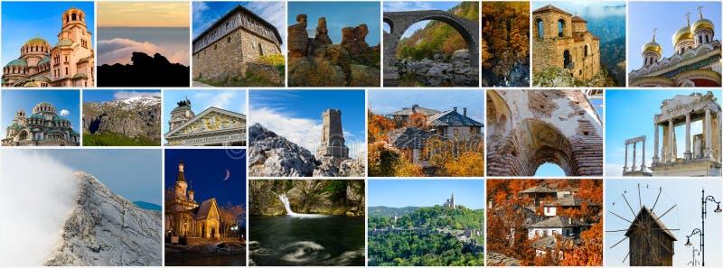 bulgarian collagelandmarks arkivbild