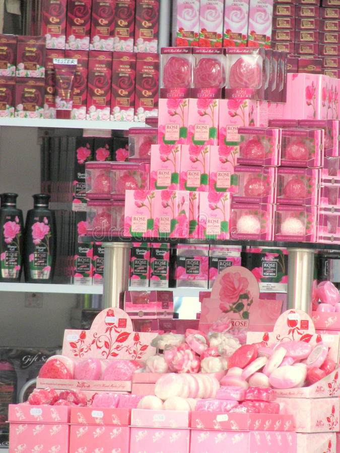 Bulgarian cosmetics stock photos