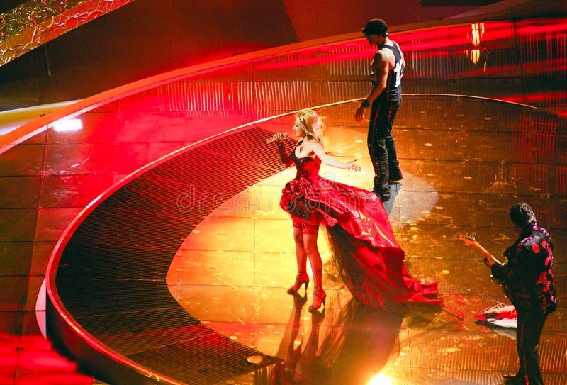 Bulgarian at Eurovision song 2008 Belgra stock image