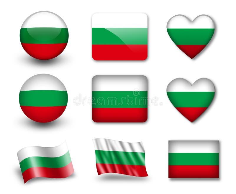 Download The Bulgarian flag stock illustration. Illustration of badge - 23309311