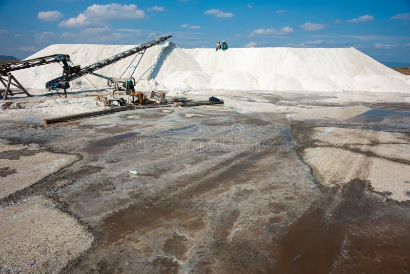 Bulgarian mountains salt stock image