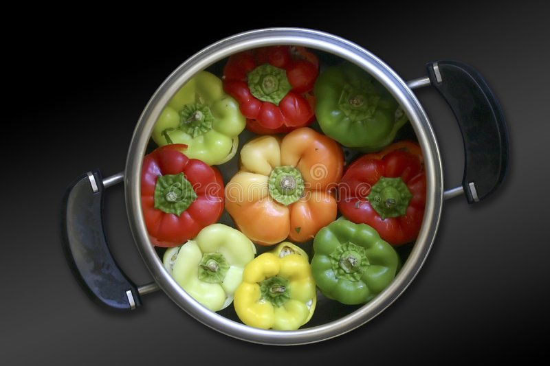 Bulgarian peppers stock photography