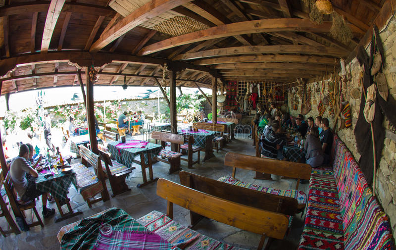 In the Bulgarian rural tavern royalty free stock images