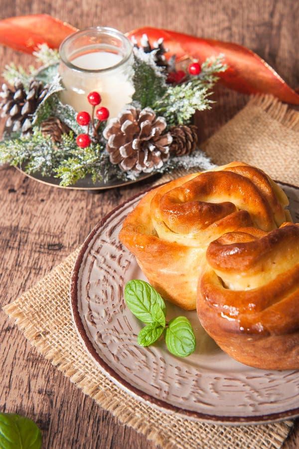 bulgarian traditionell julpita för bröd arkivbild