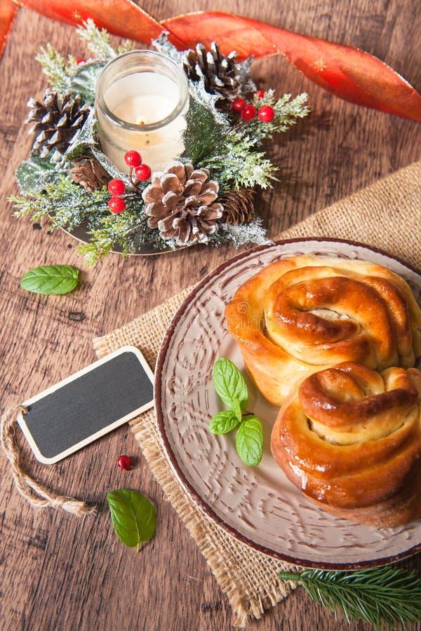 bulgarian traditionell julpita för bröd arkivbilder