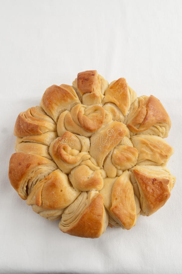 bulgarian traditionell julpita för bröd royaltyfria bilder