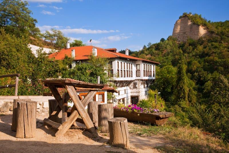 Bulgarian Village Scene stock image