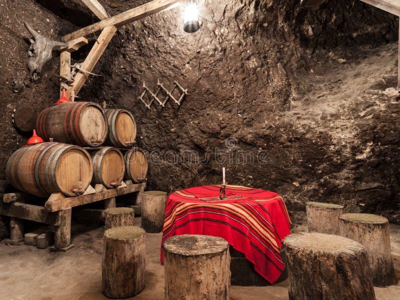 Bulgarian Wine Cellars stock photography