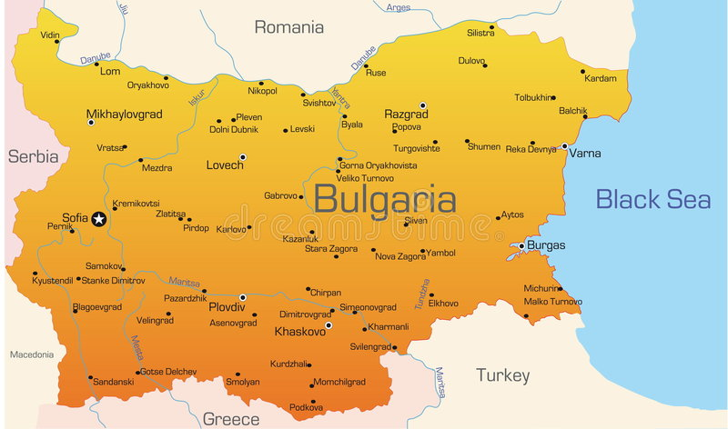 Bulgarien stock abbildung