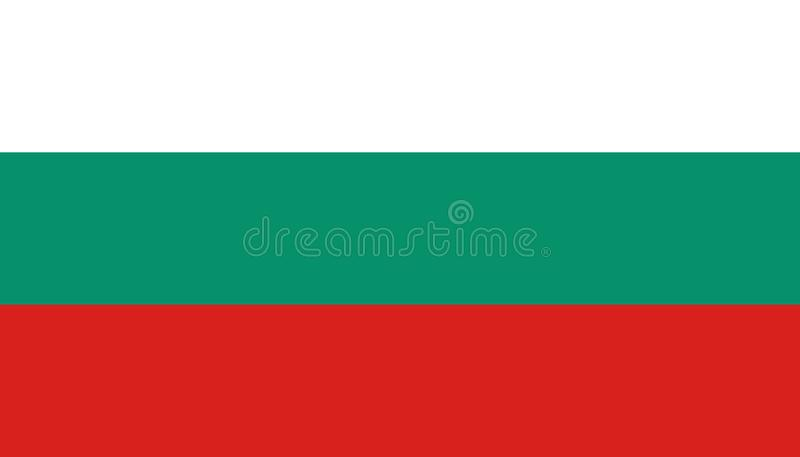 Bulgarien-Flaggenikone in der flachen Art r r vektor abbildung