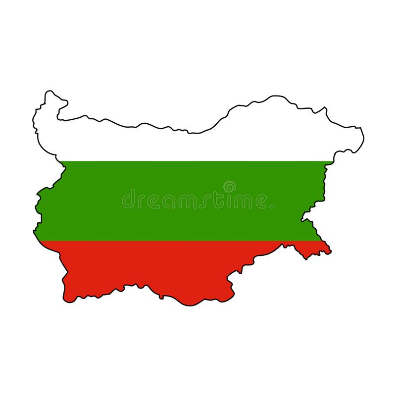 bulgarien Karte der Bulgarien-Vektorillustration lizenzfreie abbildung