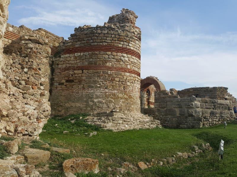 Bulgarien Nesebar - gammal stad royaltyfri fotografi