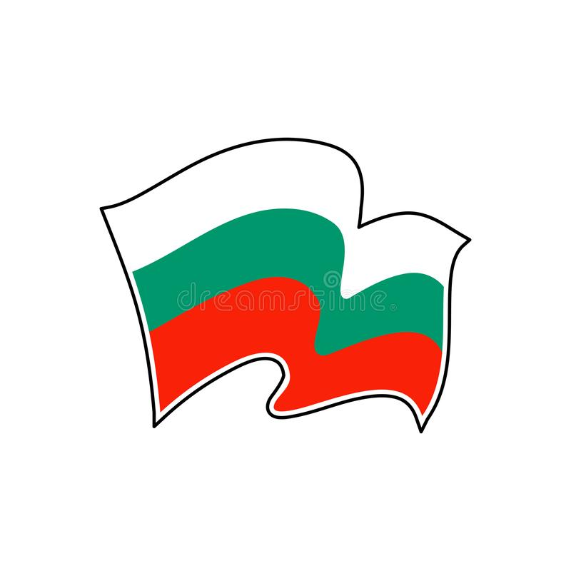 Bulgarien-Staatsflagge Auch im corel abgehobenen Betrag sofia stock abbildung