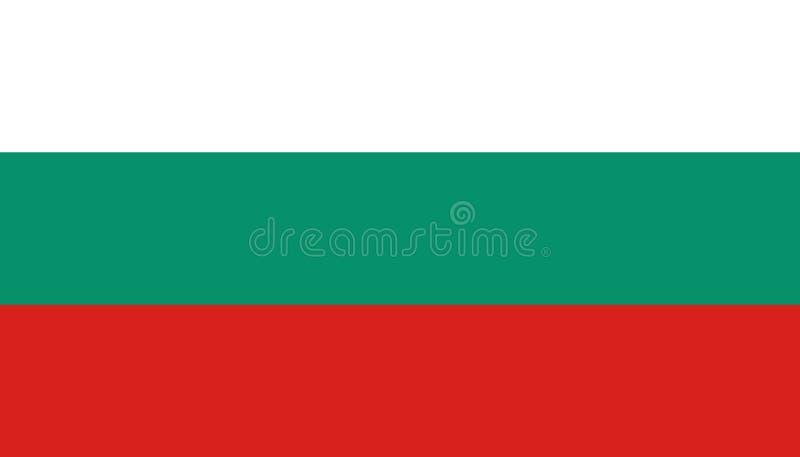 Bulgarienflaggasymbol i plan stil Nationell teckenvektorillustration Klok aff?rsid? vektor illustrationer