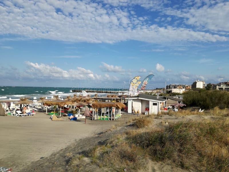 bulgarije De stad van de strandtoevlucht van Pomorie royalty-vrije stock fotografie