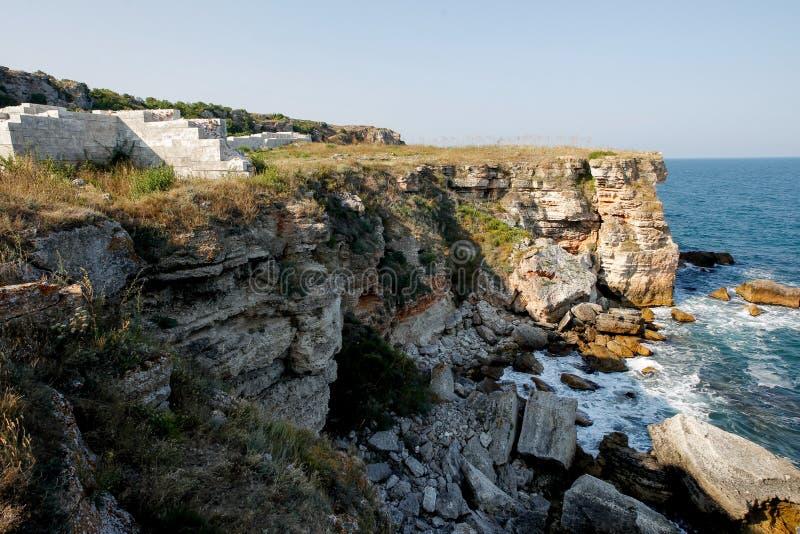Bulgarije de Zwarte Zee Kamen Bryag royalty-vrije stock afbeeldingen