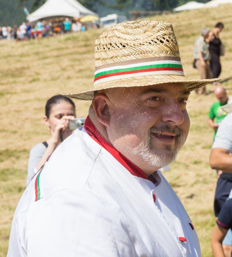 bulgarije Portret van een chef-kok Rozhen royalty-vrije stock foto's