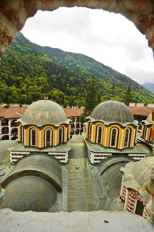 Bulgarije, Rila-Klooster royalty-vrije stock fotografie