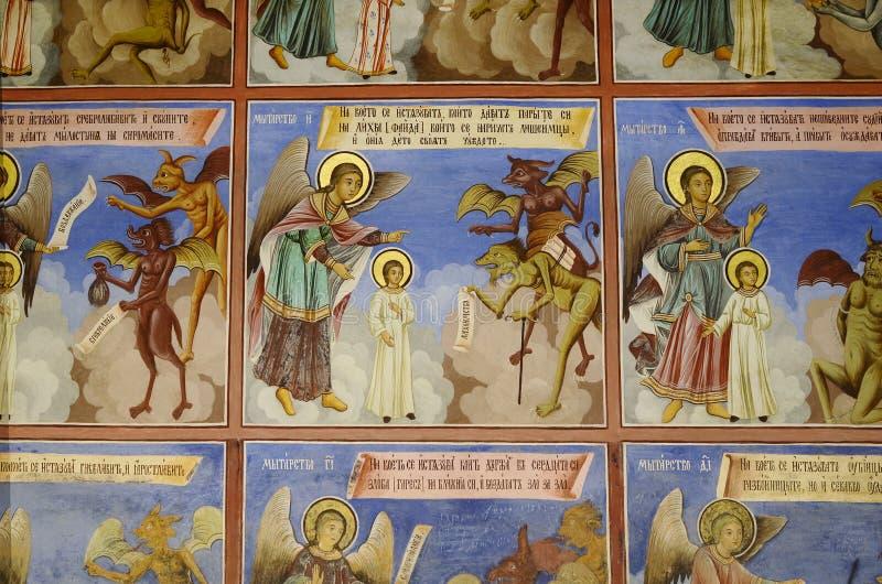 Bulgarije, Rila-Klooster stock foto
