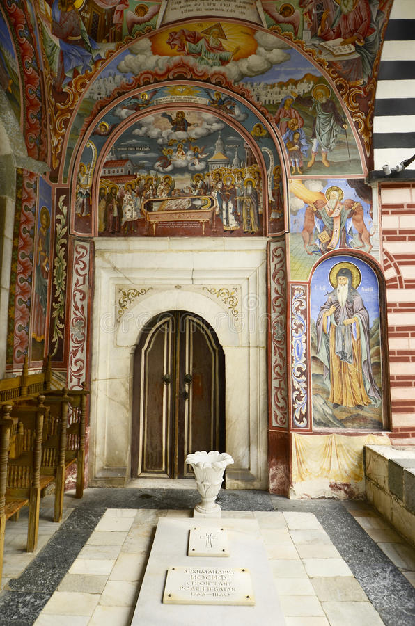 Bulgarije, Rila-Klooster royalty-vrije stock afbeeldingen