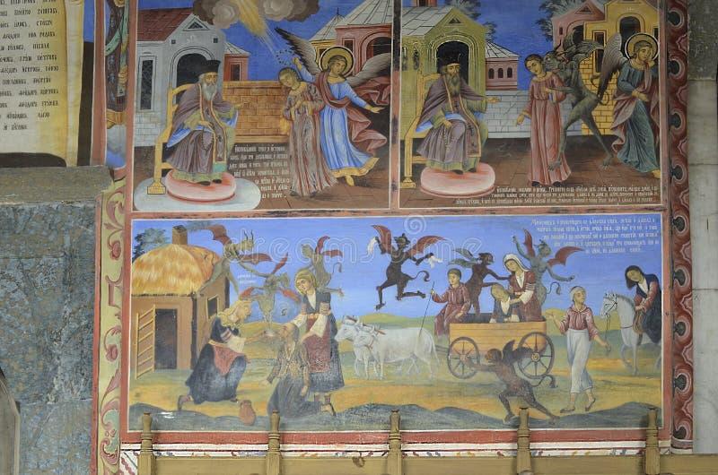 Bulgarije, Rila-Klooster stock afbeelding
