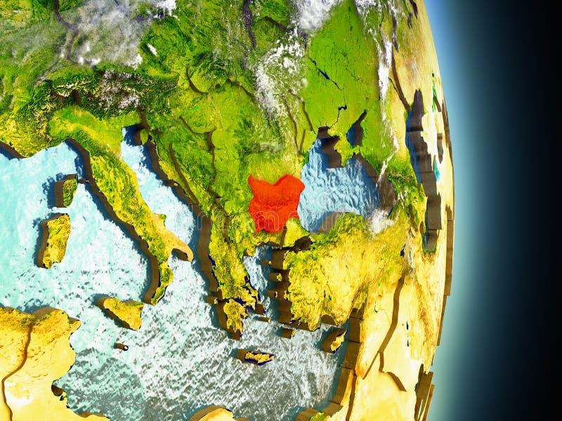 Bulgarije in rood van ruimte vector illustratie