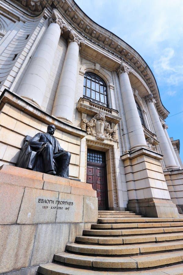 Bulgarije - Sofia University royalty-vrije stock foto