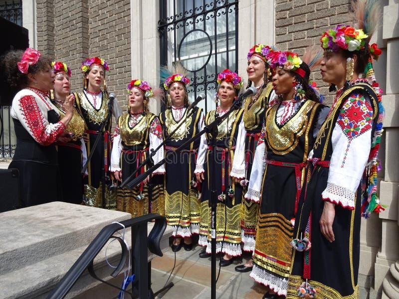 Bulgarische Gesangfrauen Gruppe stockfotografie