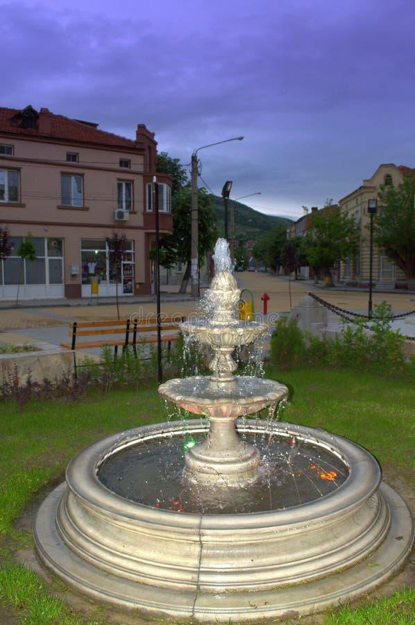 Bulgarische Stadtbrunnenansicht stockbilder