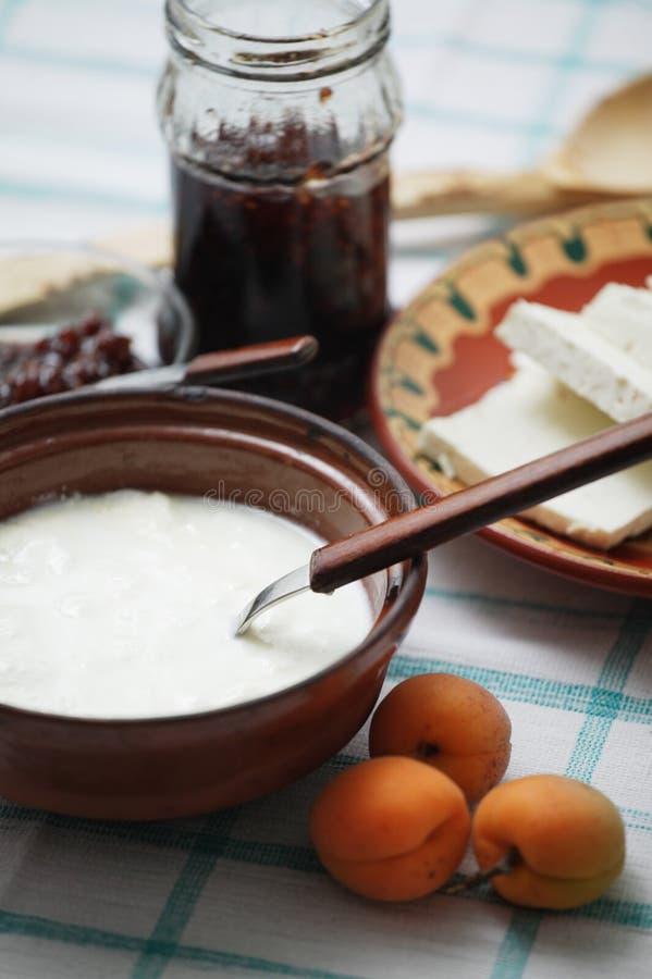 bulgarischer joghurt stockfoto bild von k se di t tonwaren 951180. Black Bedroom Furniture Sets. Home Design Ideas