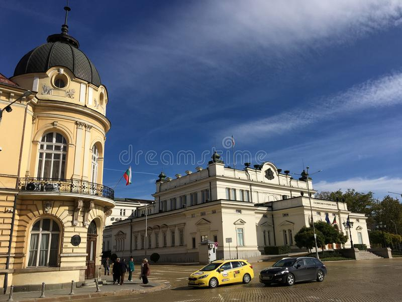 Bulgarisches Parlaments-Gebäude stockfotos
