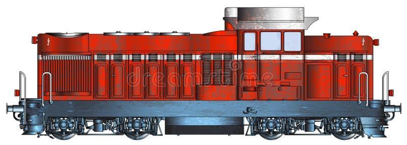 Bulgarisk rostig serie 55-00 som för diesel- lokomotiv används av BDZ stock illustrationer