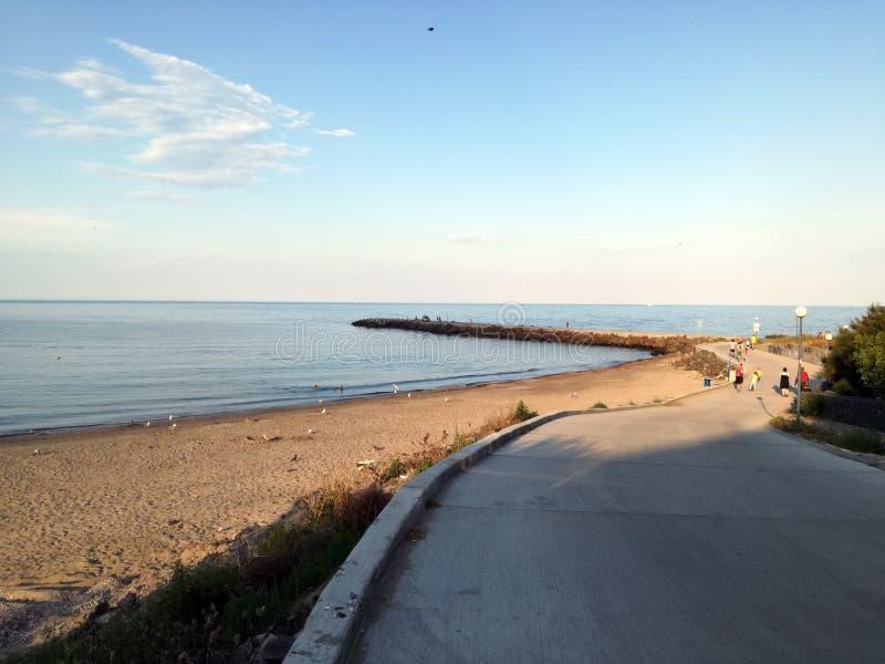 Bulgarisk semesterort på Blacket Sea Pomorie royaltyfria foton