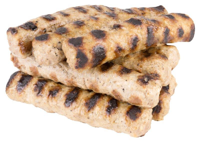 Bulgarisk traditionell kebapche som är förberedd från köttfärs arkivbilder