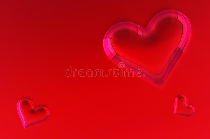 Bulge heart shape. For valentines day background royalty free illustration