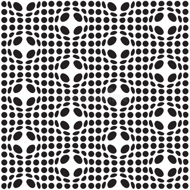 Bulge spot background. Abstract black and white seamless background with spot bulge royalty free illustration