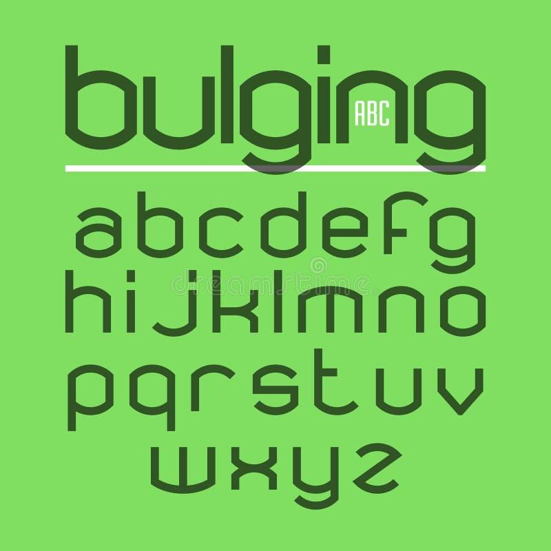 Bulging typeface. Alphabet letters illustration vector illustration