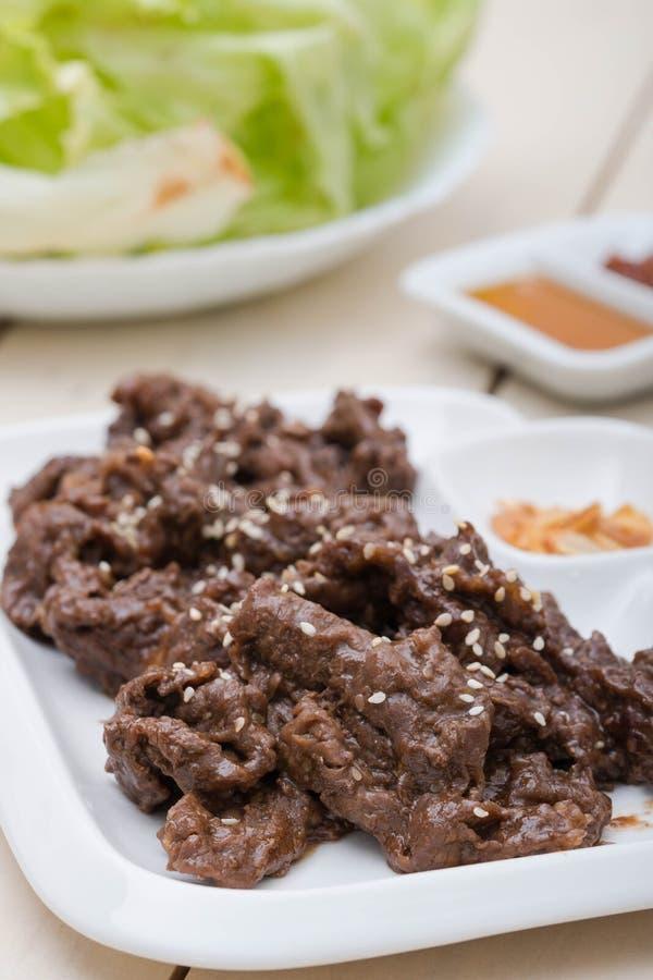 Bulgogi coreano squisito delizioso del manzo fotografie stock libere da diritti