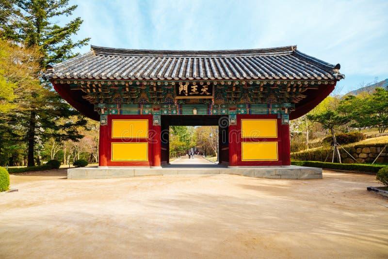 Bulguksa UNESCO Świątynnego światowego dziedzictwa Koreańska stara architektura w Korea zdjęcie royalty free