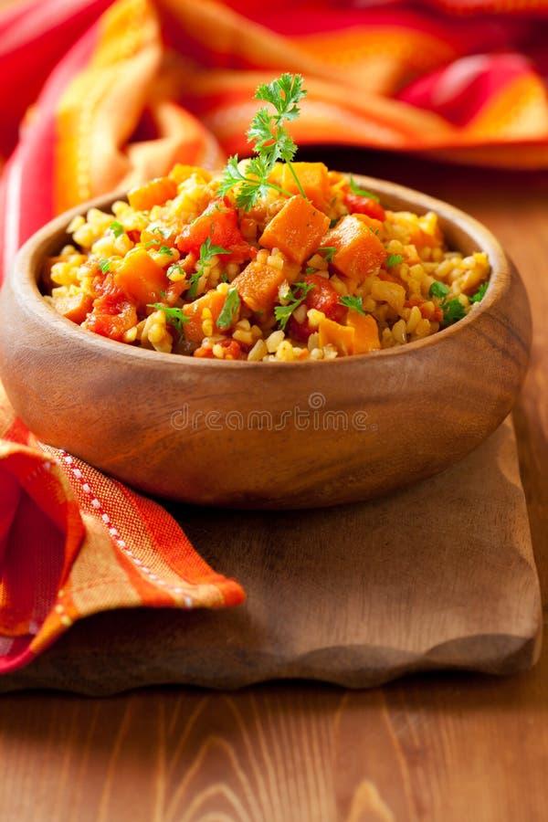 Bulgur met groenten stock fotografie