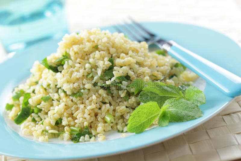 Bulgur salade royalty-vrije stock foto's