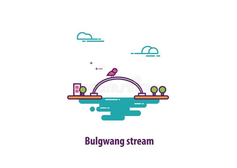 Bulgwang小河在韩国 免版税图库摄影