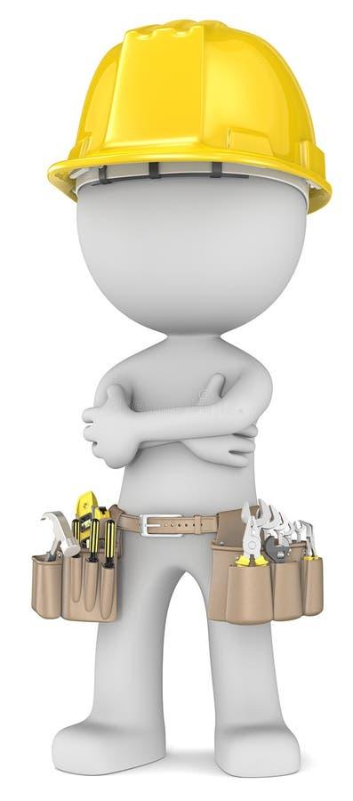 Bulider seguro. ilustração stock