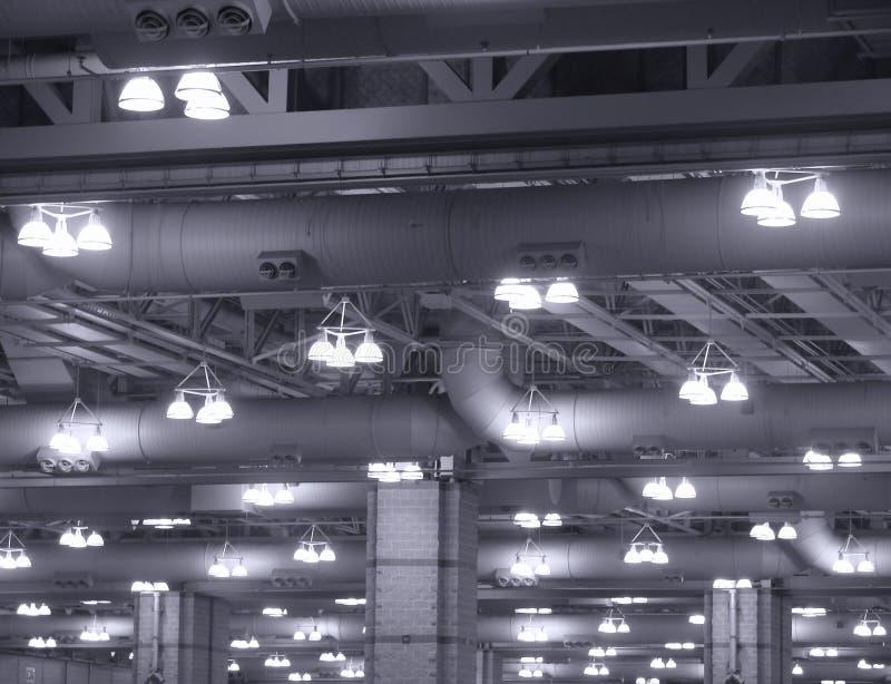buliding света потолка коммерчески промышленные стоковые изображения