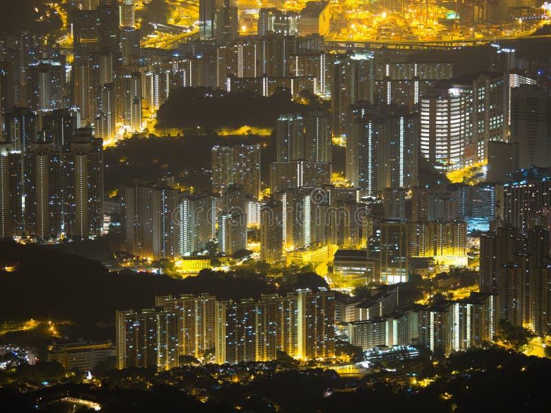 Buliding denso em Hong Kong foto de stock