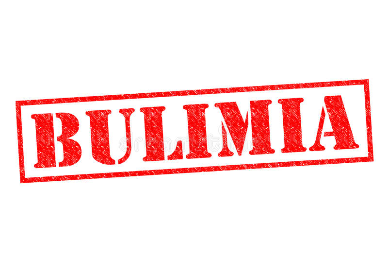 BULIMIA. Red Rubber Stamp over a white background royalty free stock images