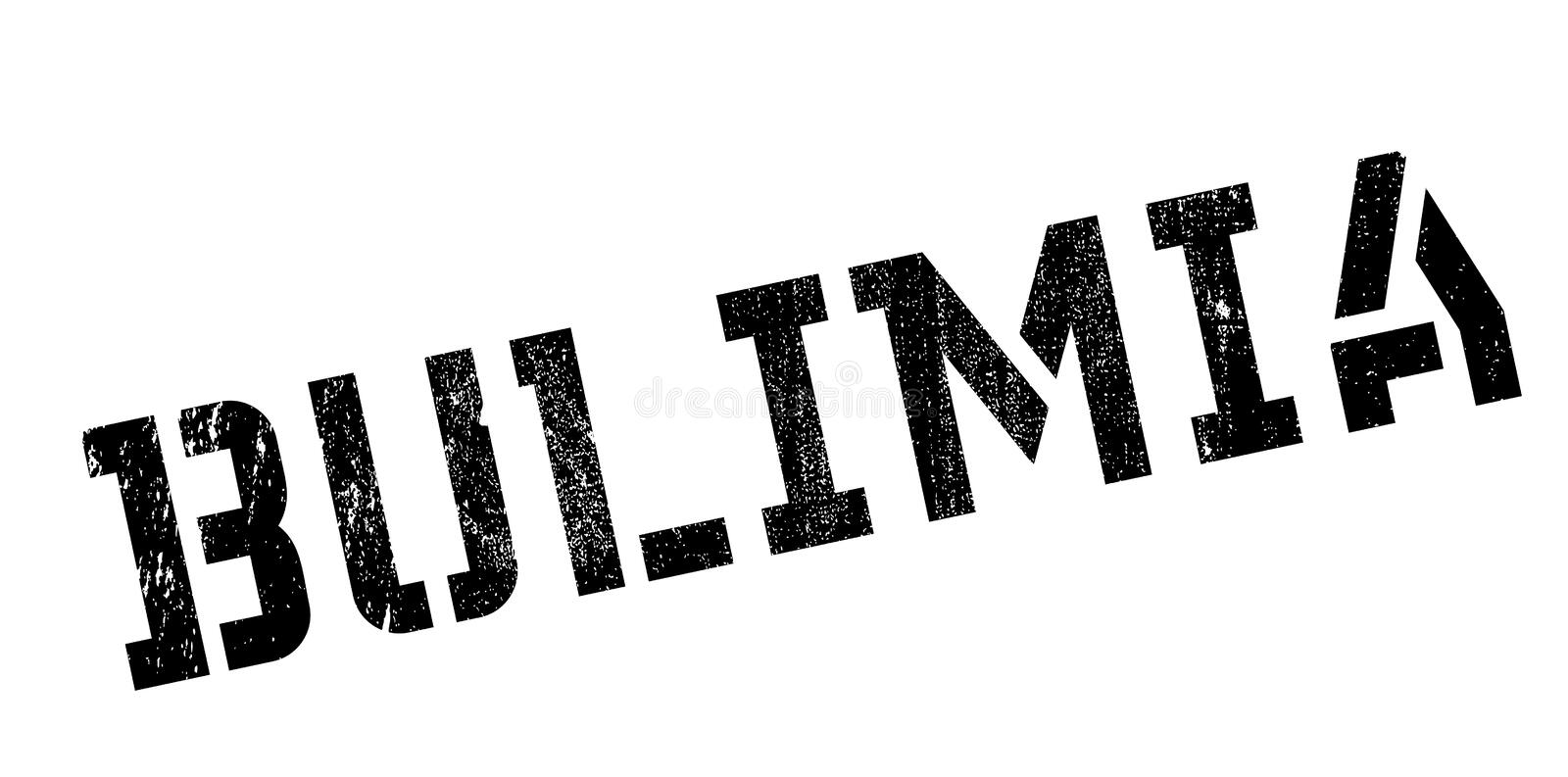Bulimia rubber stamp. Grunge design with dust scratches. Effects can be easily removed for a clean, crisp look. Color is easily changed stock images